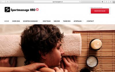 Vernieuwde website Sportmassage HRO